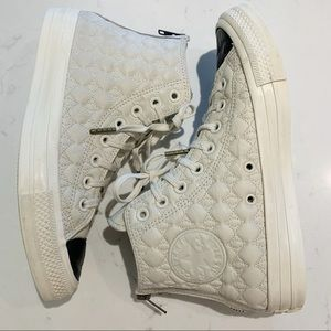 Converse Quilted Leather Hi Tops